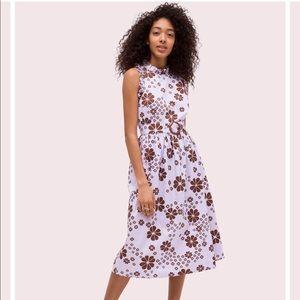 Kate Spade Flora Spade Midi Dress Size 12
